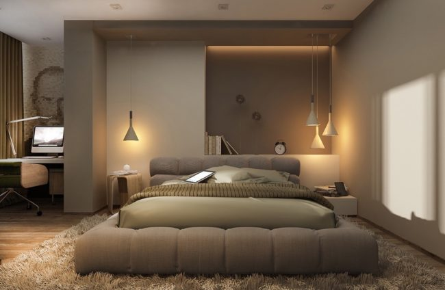 stress-relieving bedroom