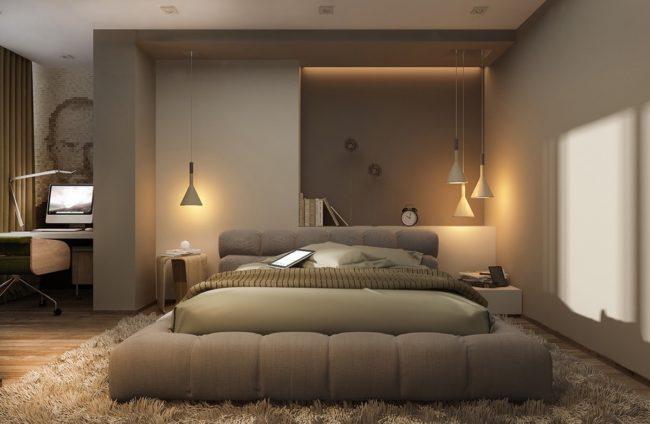 stress-relieving bedroom
